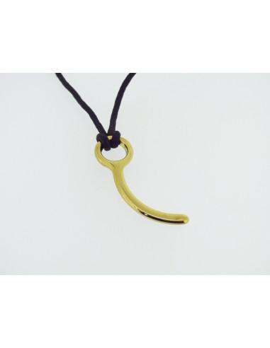Halskette mit Fallschirm Pin, vergoldet