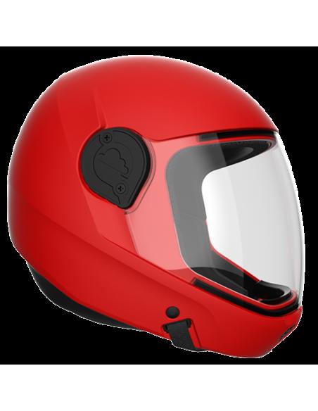 G4 Vollvisier Helm rot